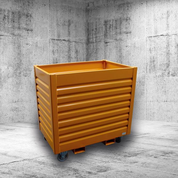 stahl rollwagen becker lagerbeh lter. Black Bedroom Furniture Sets. Home Design Ideas